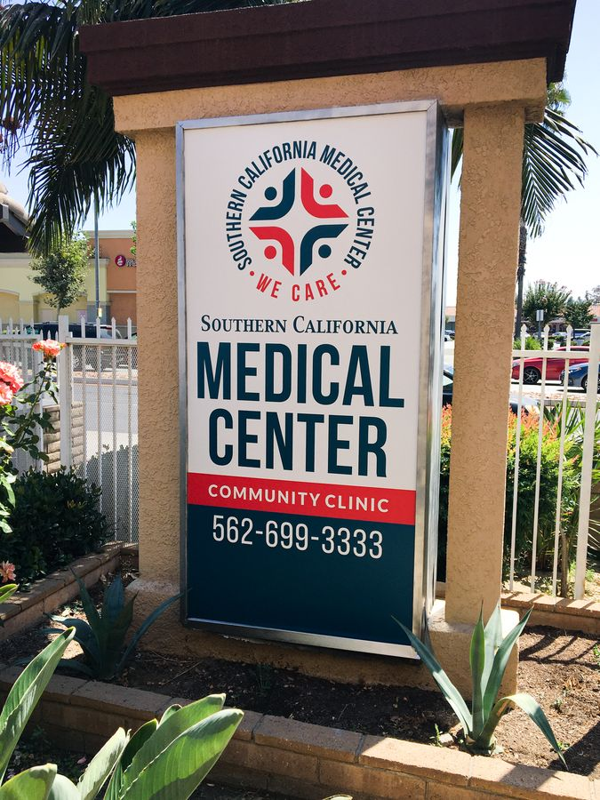 Medical center led light box