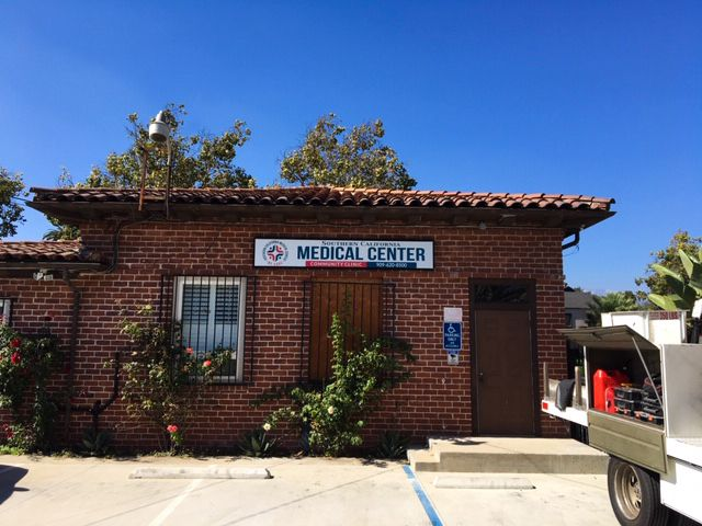 Southern California Medical Center outdoor light box made of aluminum and acrylic