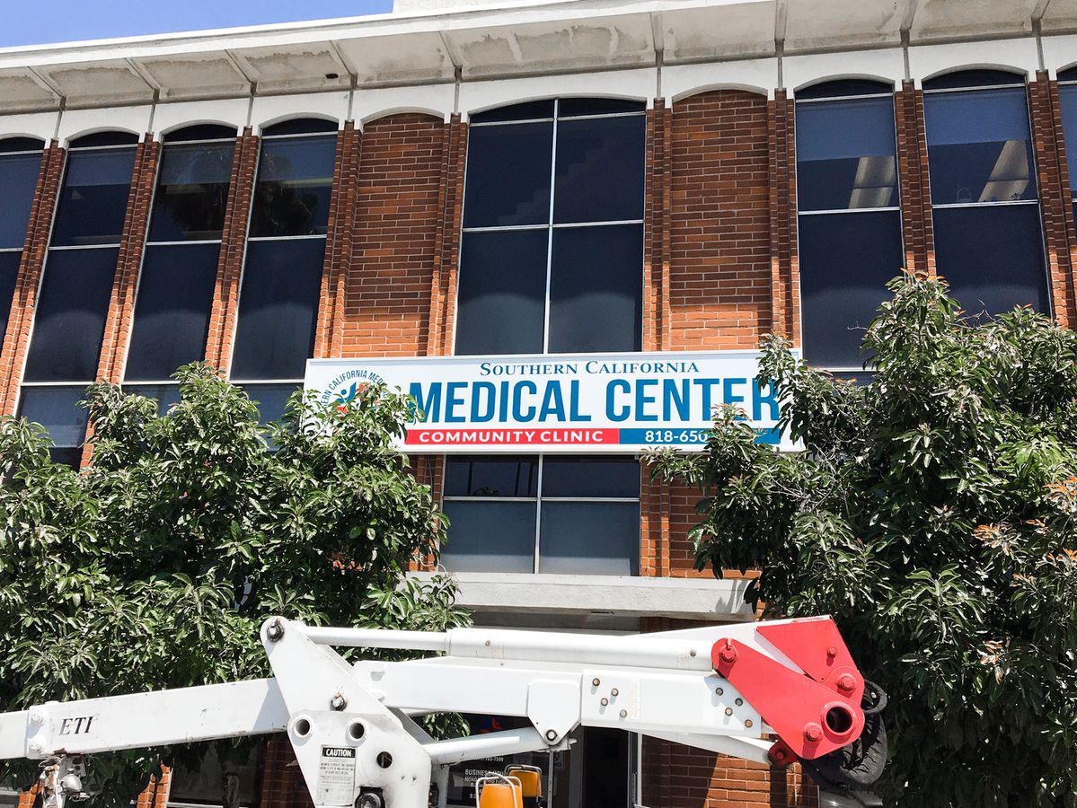 Southern California Medical Center light box sign in a large size made of aluminum and acrylic