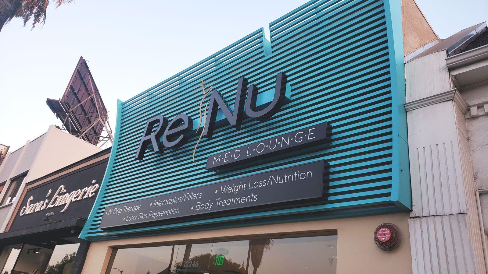 Renu raceway channel letters