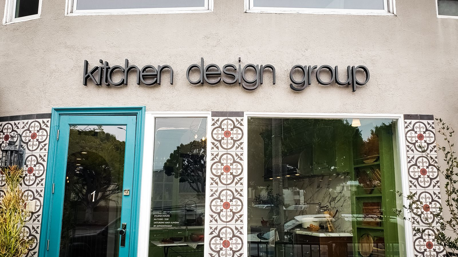 Kitchen Design Group 3d metal sign letters in black made of aluminum for storefront branding