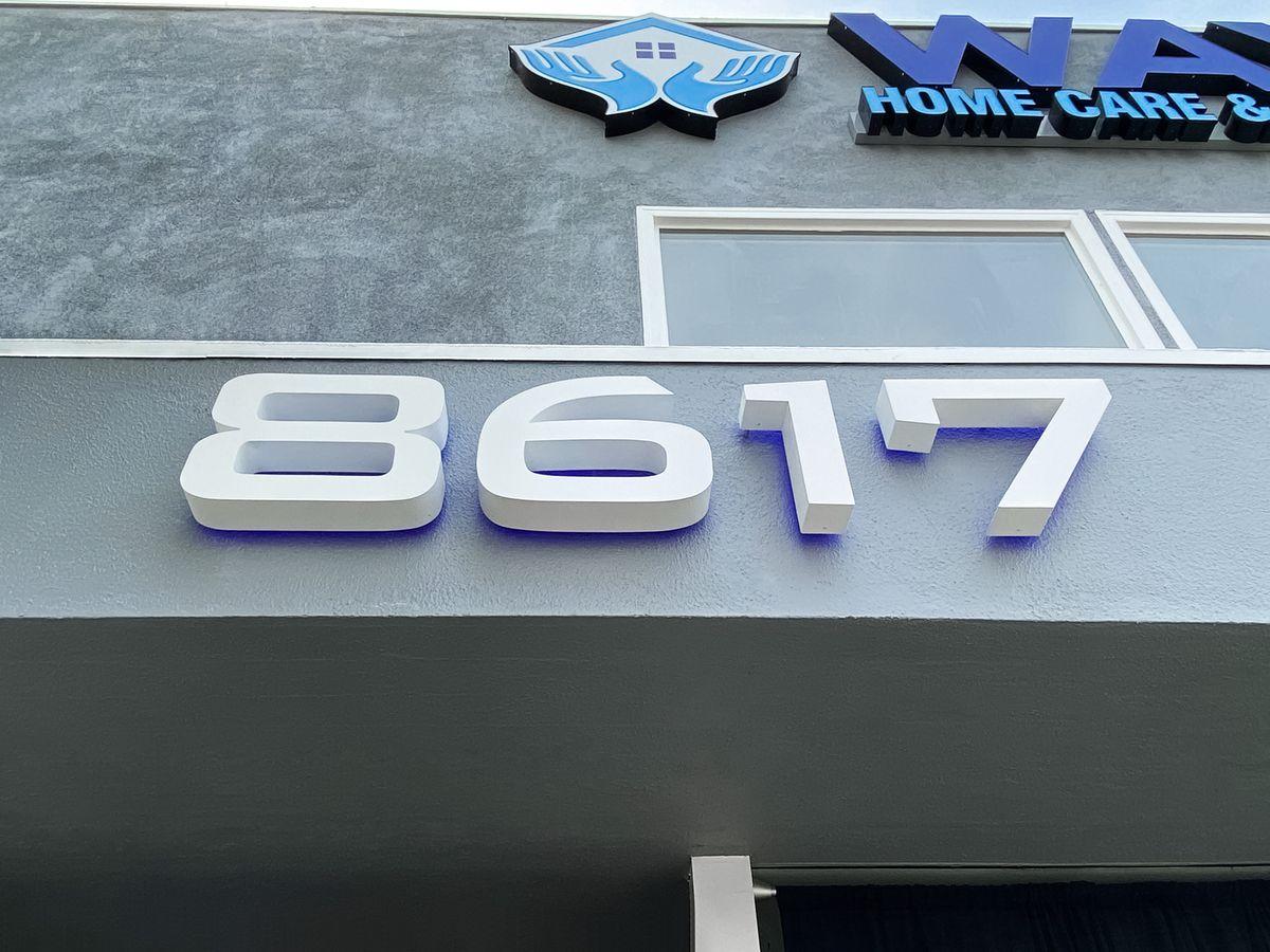 Storefront backlit letters