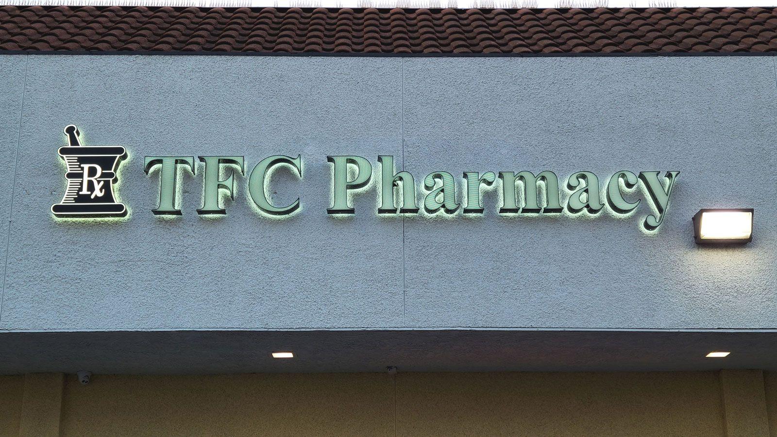 TFC pharmacy illuminated signs