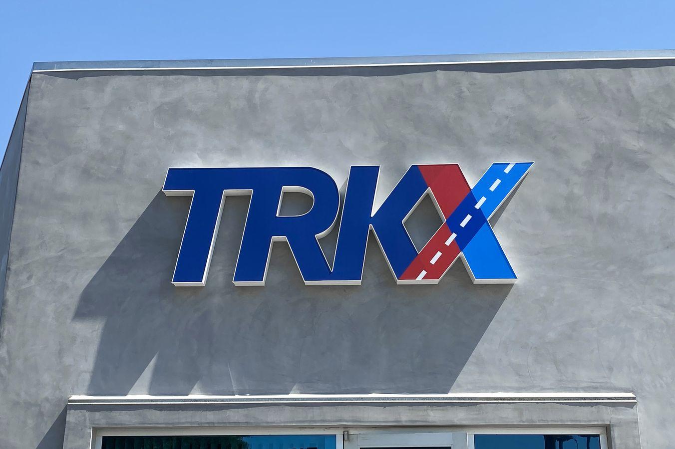 TRKX channel letters