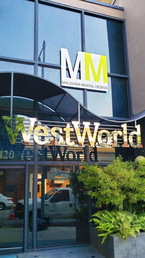 Westworld illuminated sign