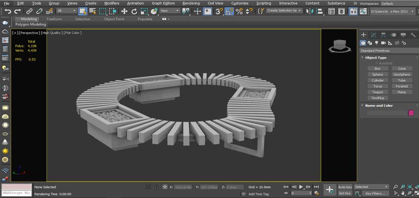 Z-buffer 3D rendering technique in action