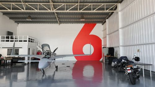 airplane hangar custom decal