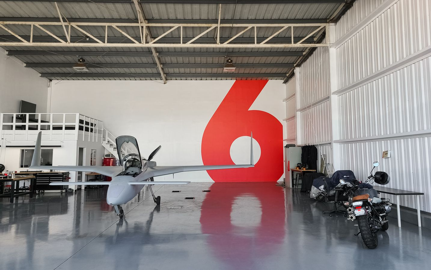 airplane hangar custom decal