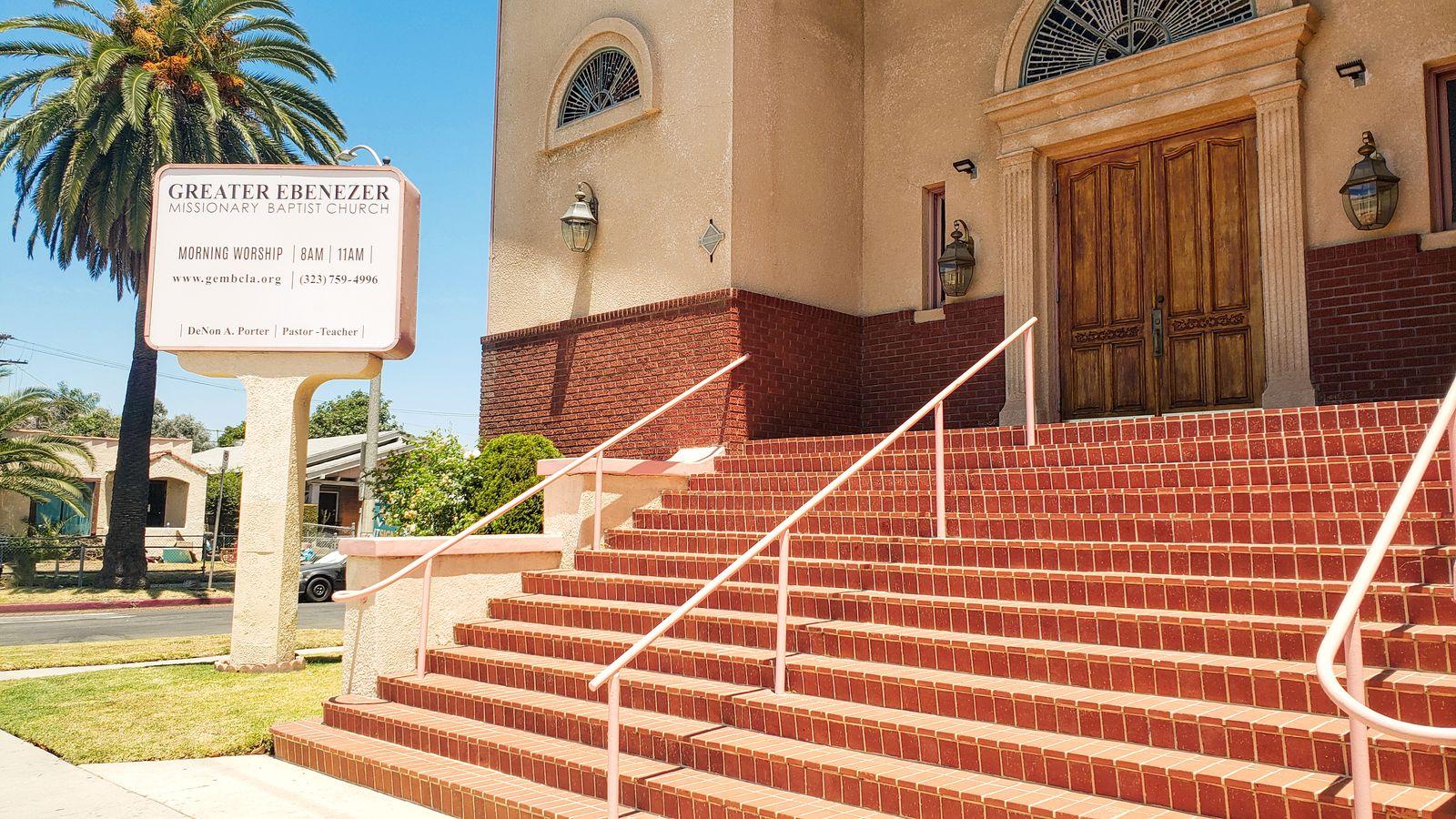 church freestanding sign