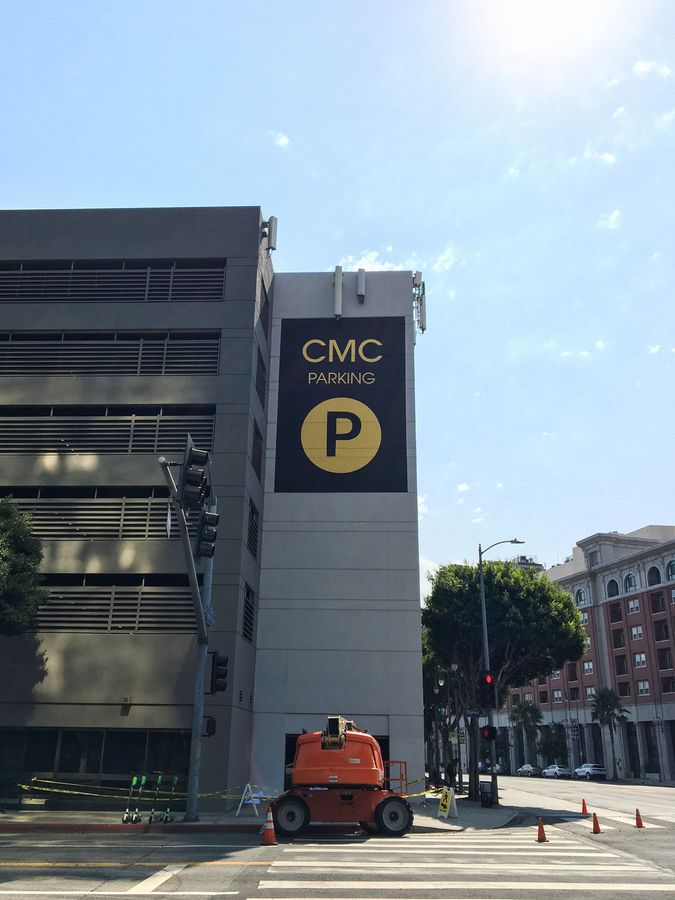 cmc parking painted sign