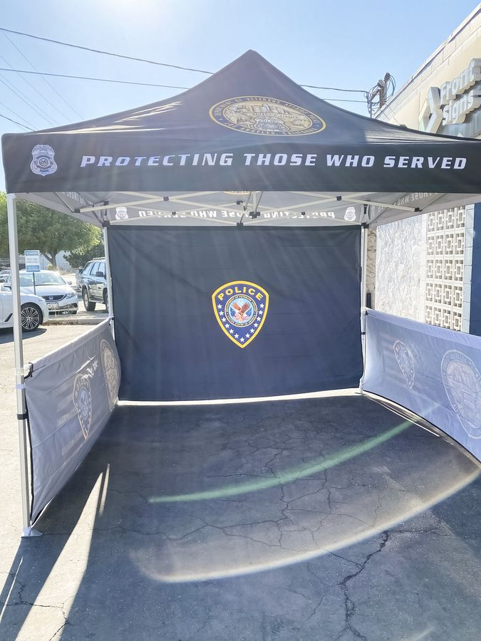 custom police tent