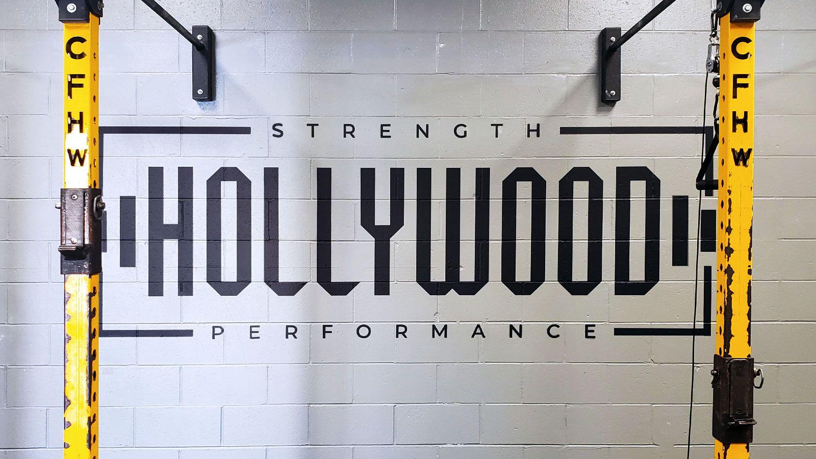 hollywood gym vinyl lettering