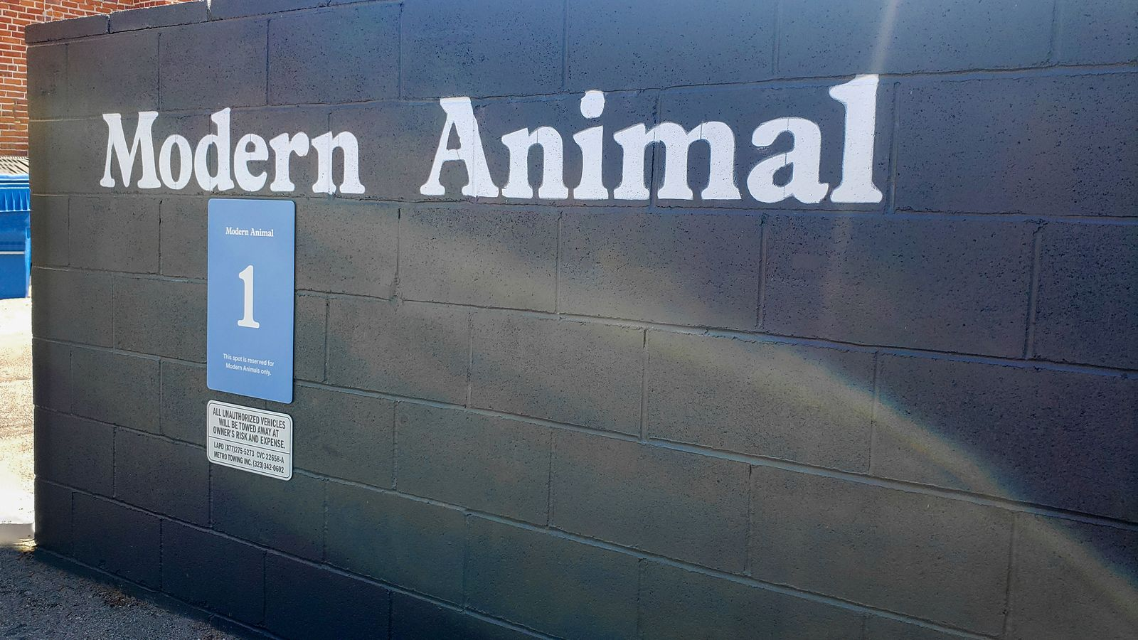 modern animal aluminum sign