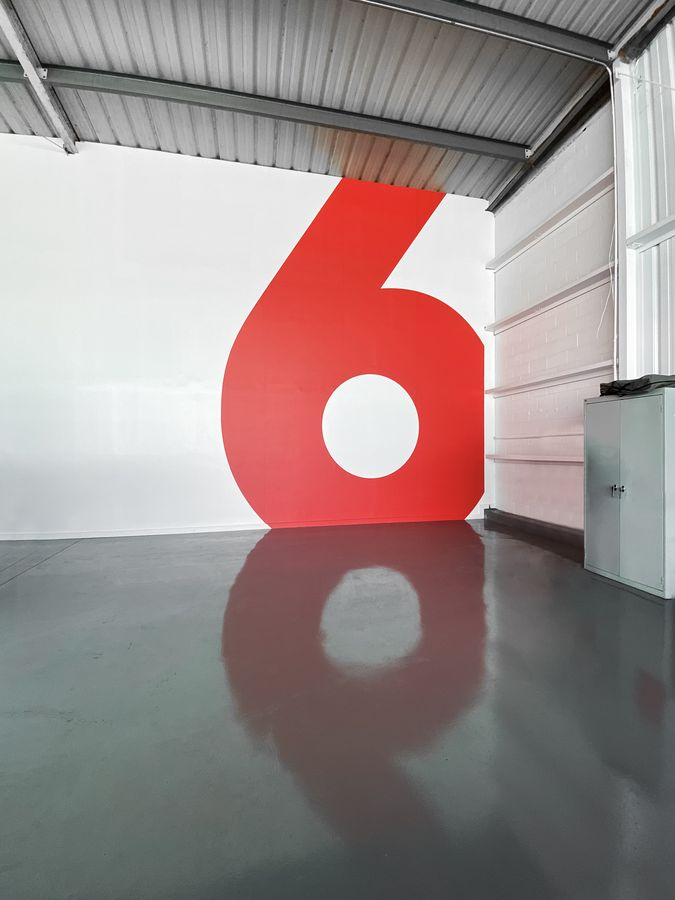 number wall decal