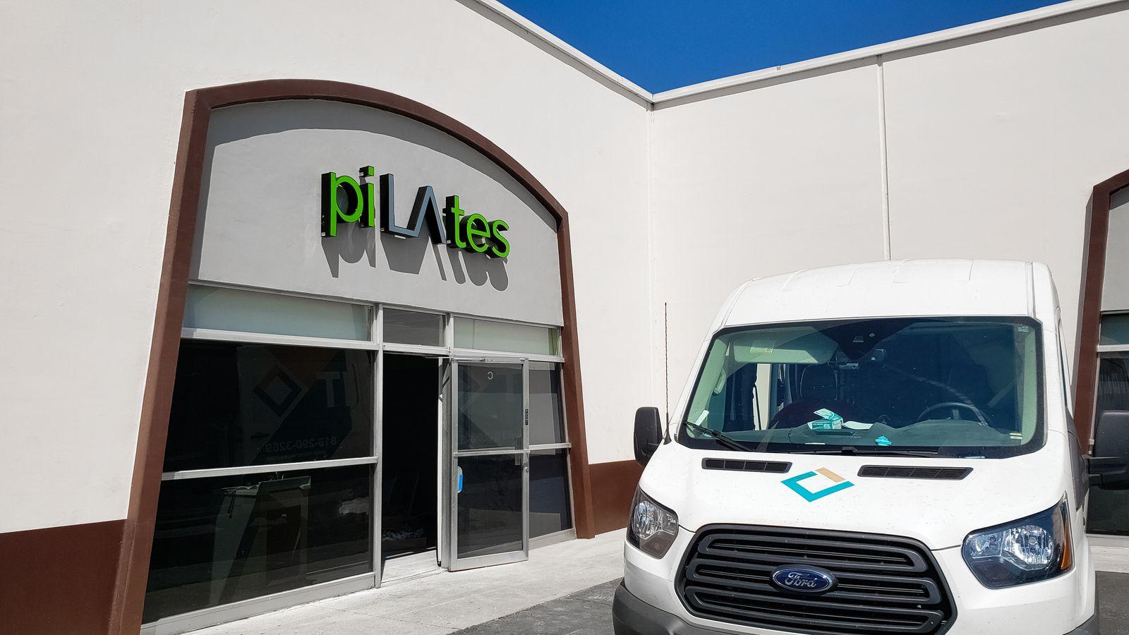 pilates led channel letters