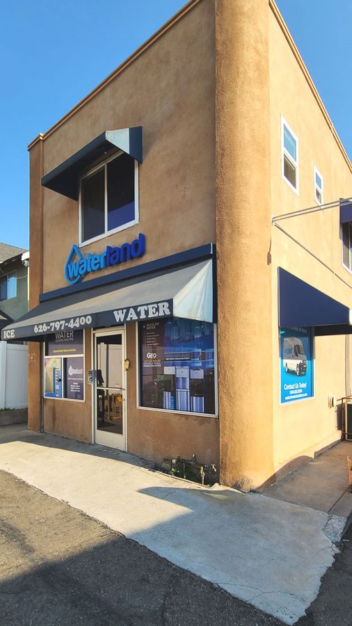waterland storefront signs