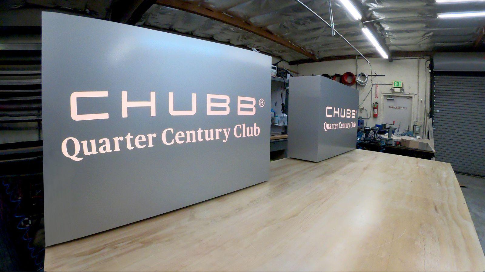 Chubb illuminated signs