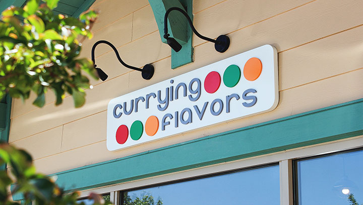 Colorful-restaurant-sign