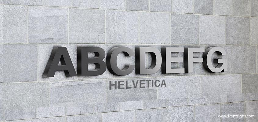 Image showing Helvetica channel letter font