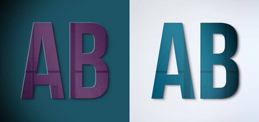 Signage design color contrast ideas depicted with two image examples