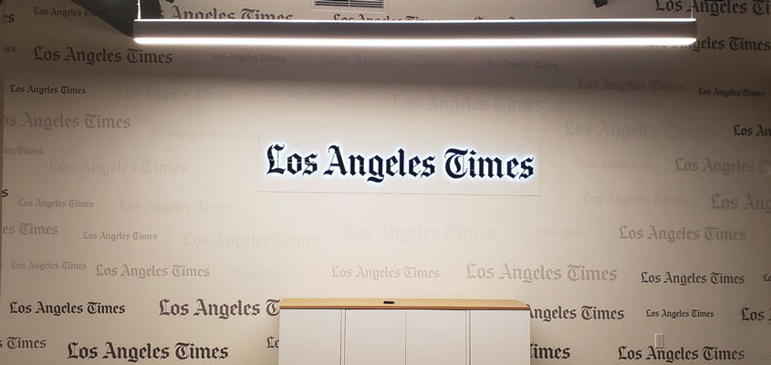 Sign example from LA Times for signage design inspiration