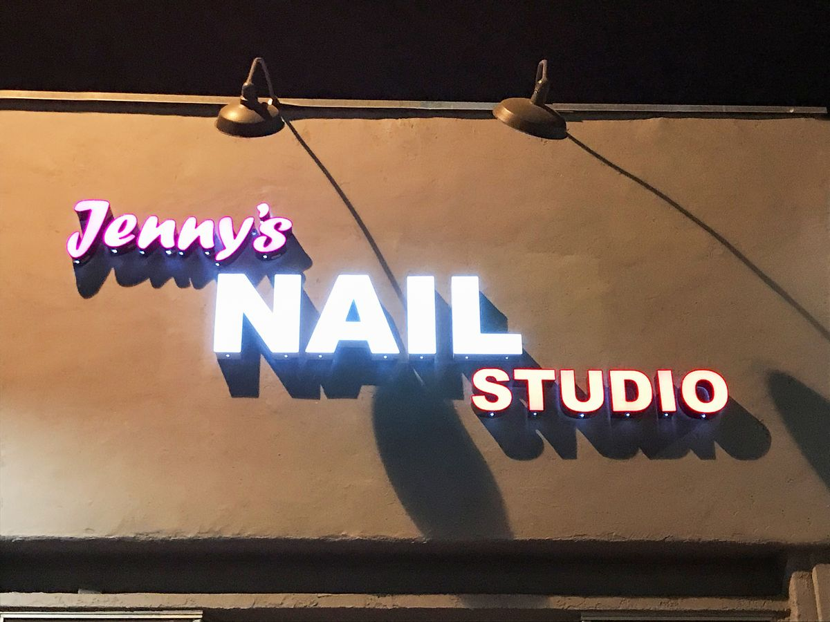 Nail studio channel letters