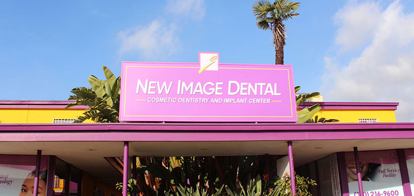 Outdoor signage design idea from New Image Dental