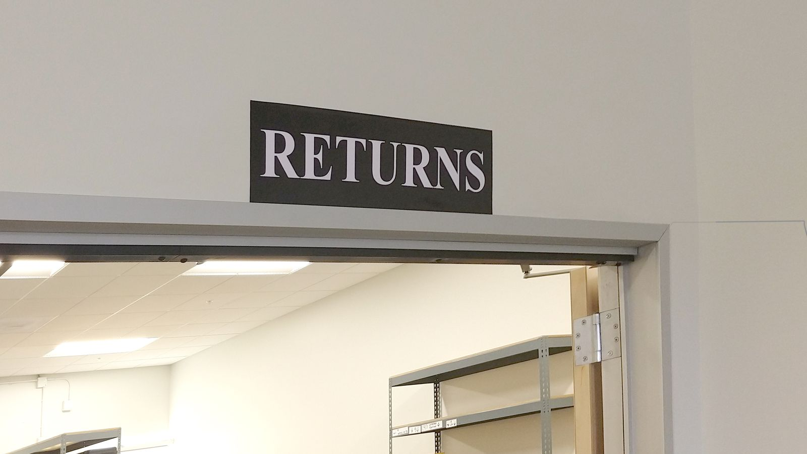 Returns wall decal