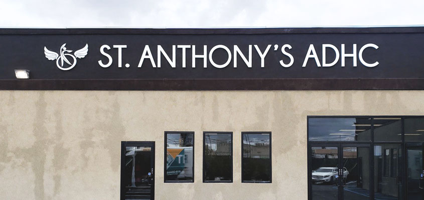 Sing example from St. Anthony's' ADHC for shop sign design inspiration