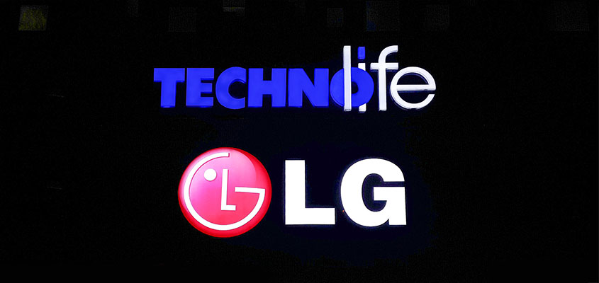 'Technolife LG' image to define stylish channel letters