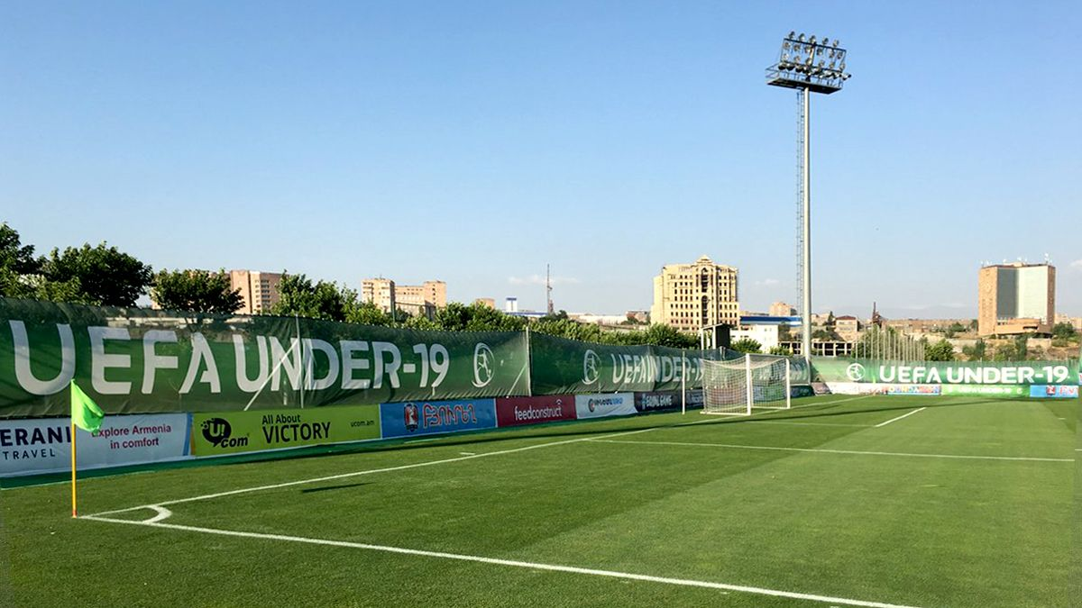 Uefa championship mesh banner