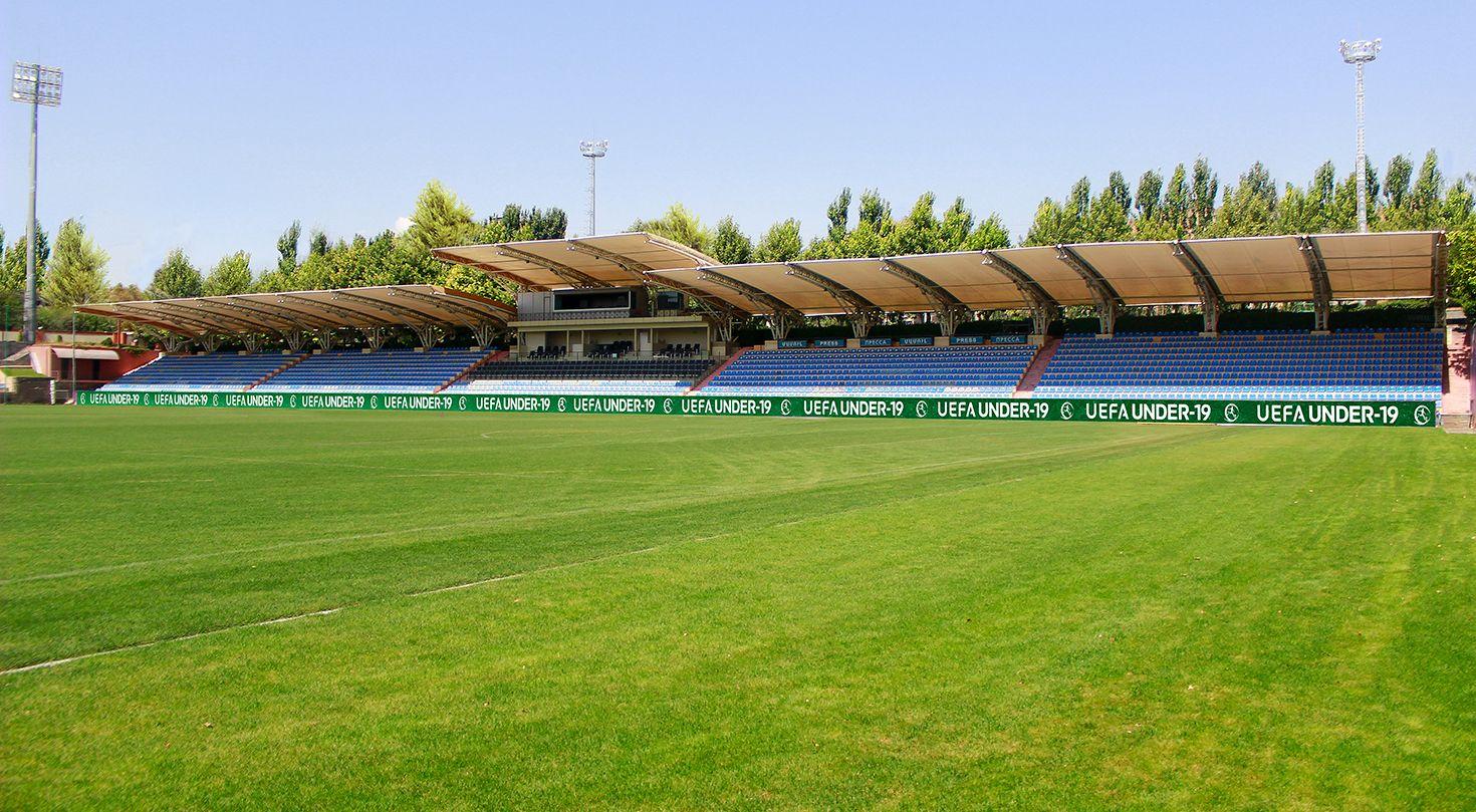 Uefa soccer field advertising banner