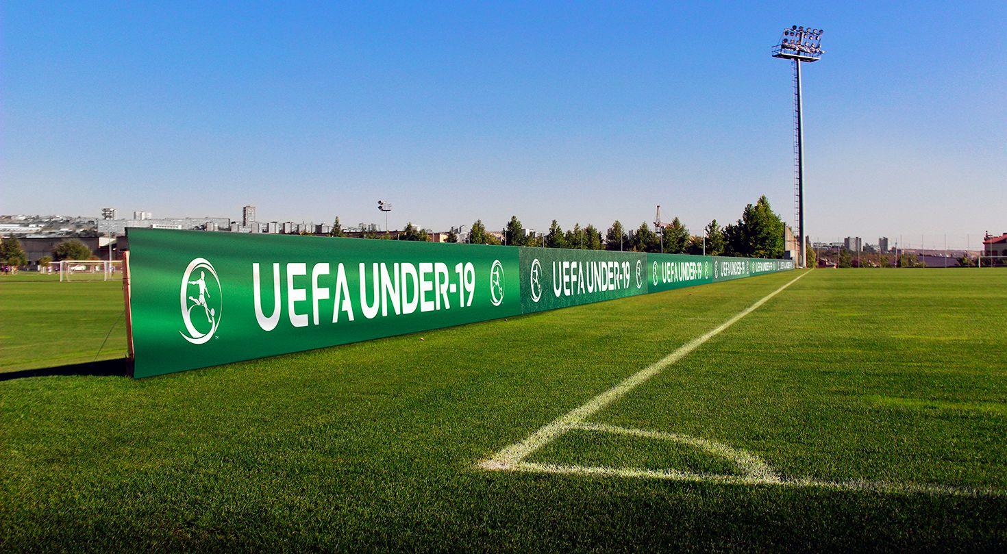 Uefa soccer field banners
