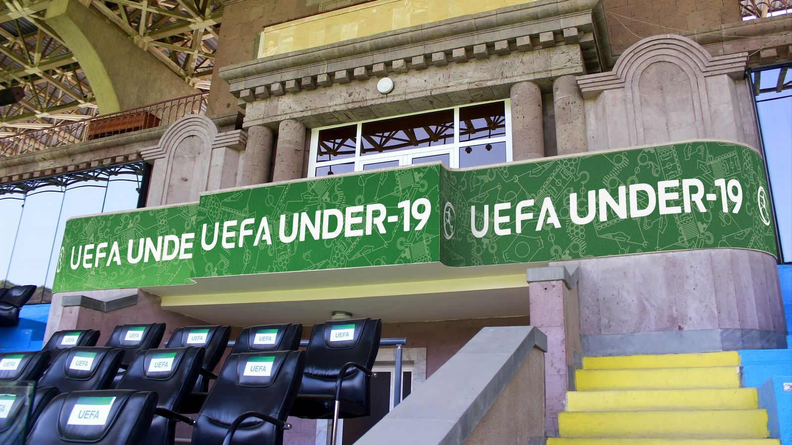 Uefa soccer stadium sign