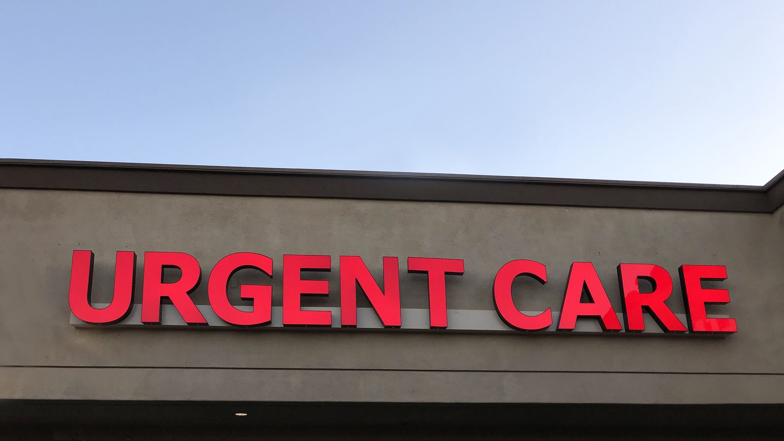 Urgent Care channel letters