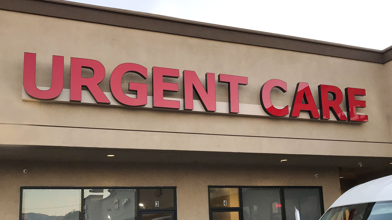 Urgent Care light-up sign