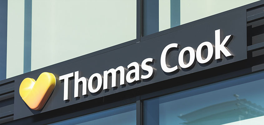 Wireway mounted channel letter sign example from Thomas Cook