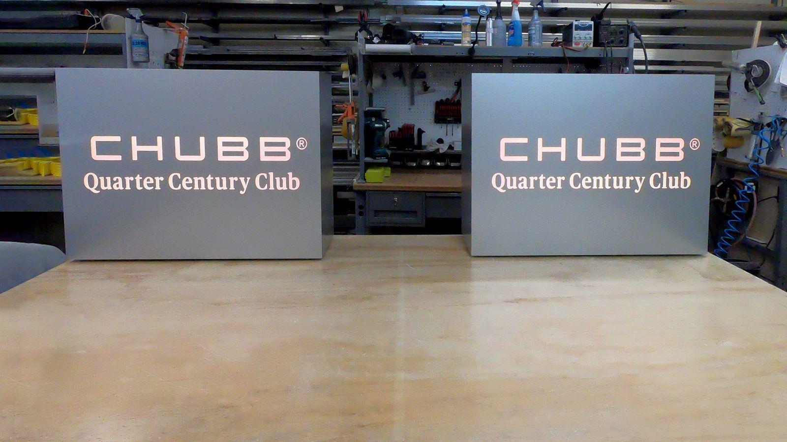 chubb light box signs