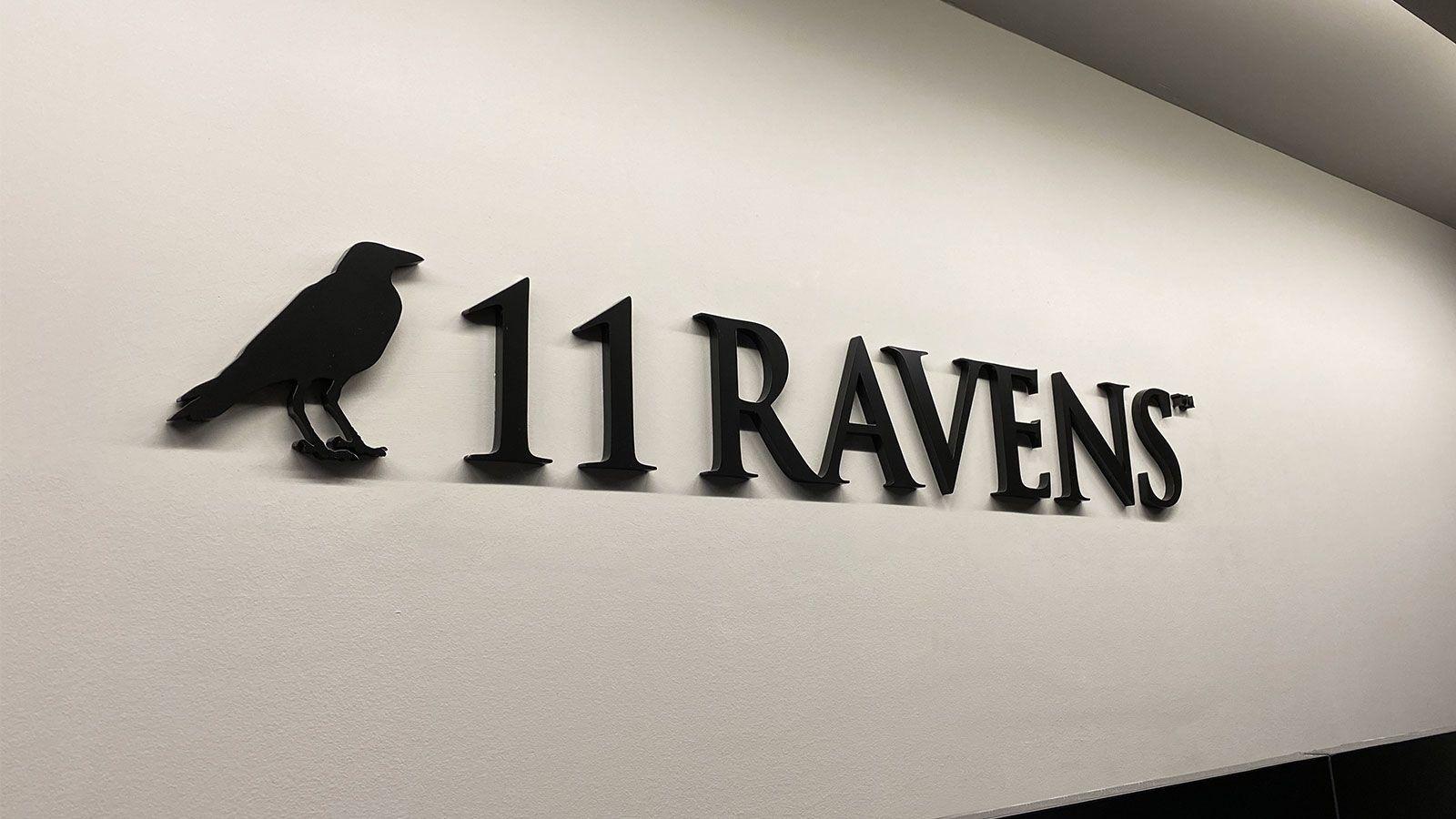 11 ravens acrylic letters