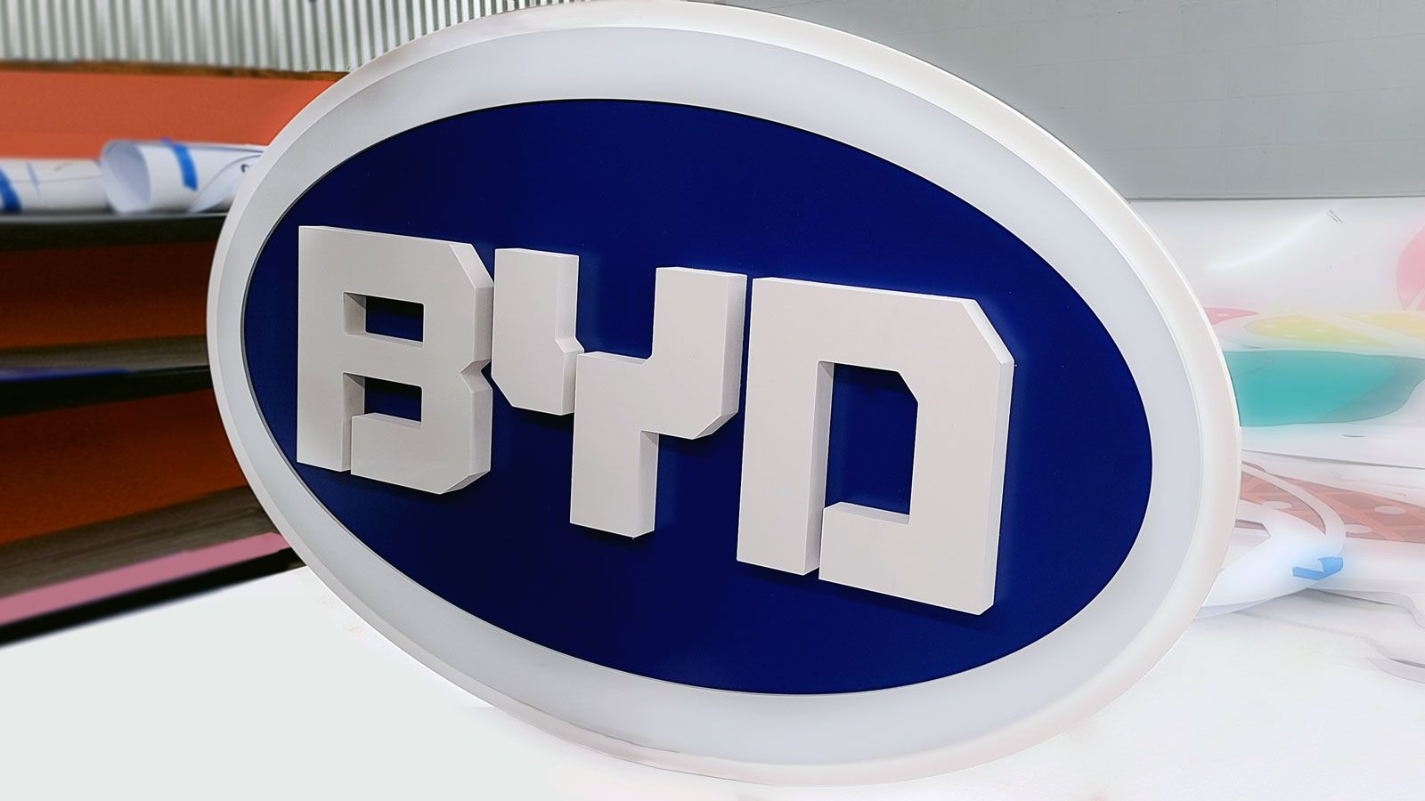 BYD 3d sign