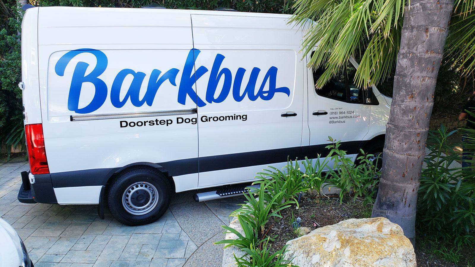 Barkbus custom van decals
