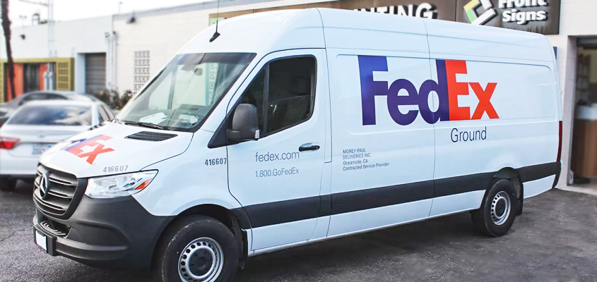 Image showing business branding idea for 'FEDEX'
