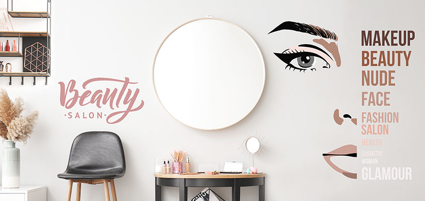 Image showing corporate branding solutions for a beauty salon