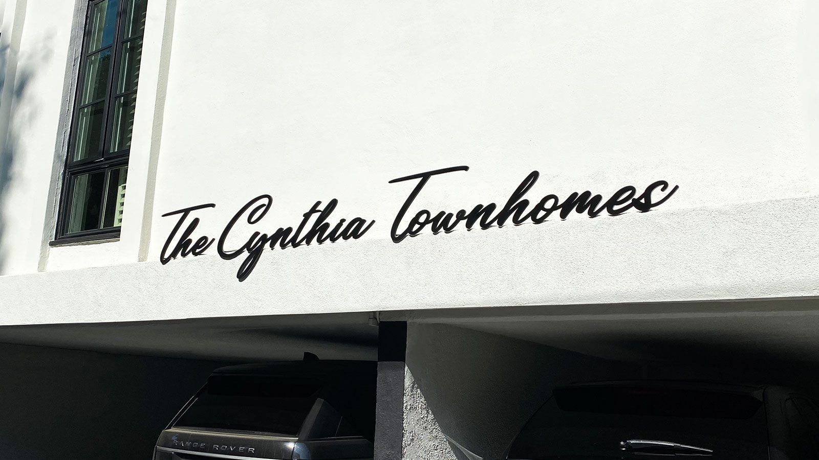 Cynthia townhomes aluminum letters
