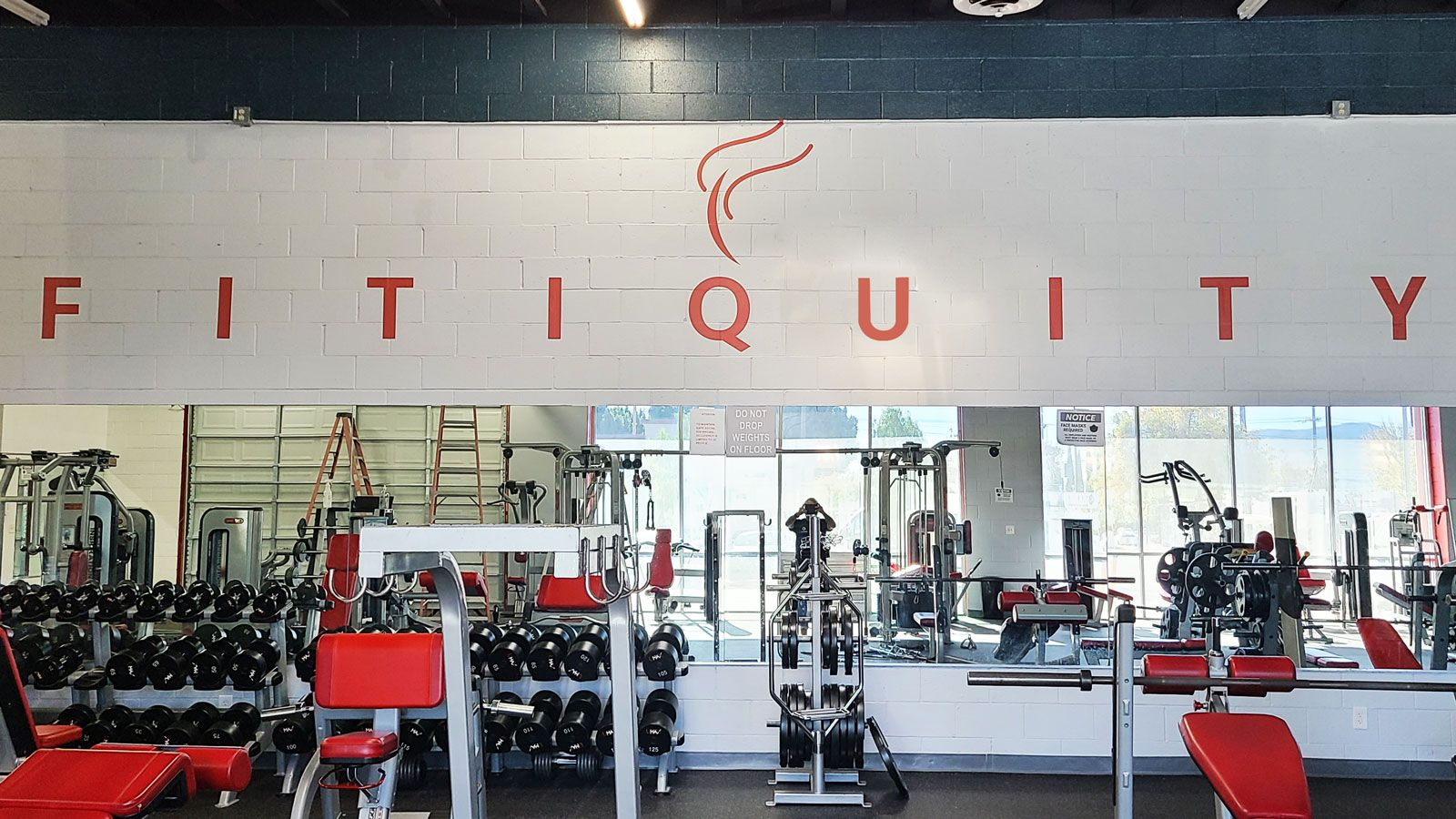 Fitquity gym vinyl lettering