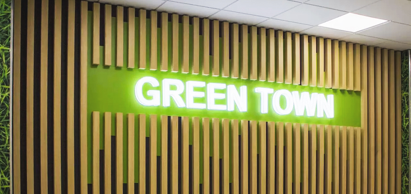 Image about 'GREEN TOWN' business branding idea