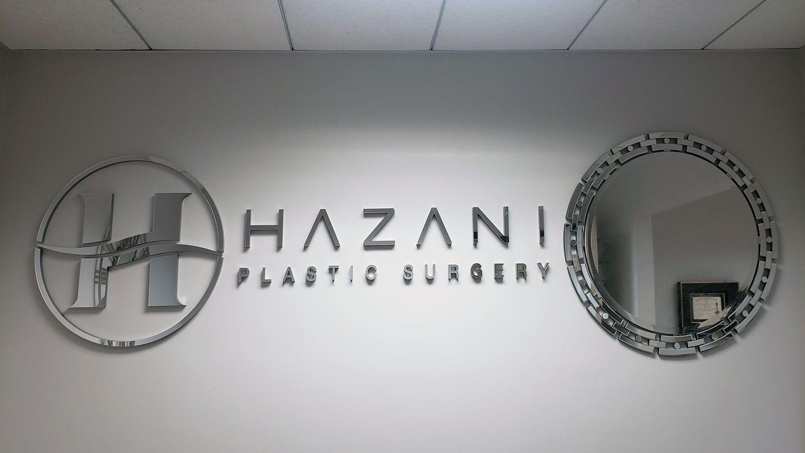 Hazani mirror acrylic letters