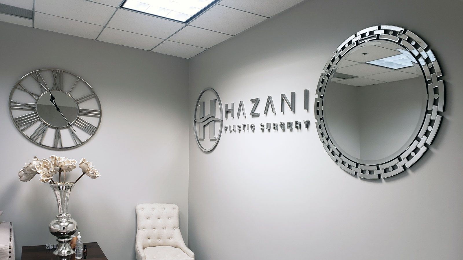 Hazani mirror acrylic signs