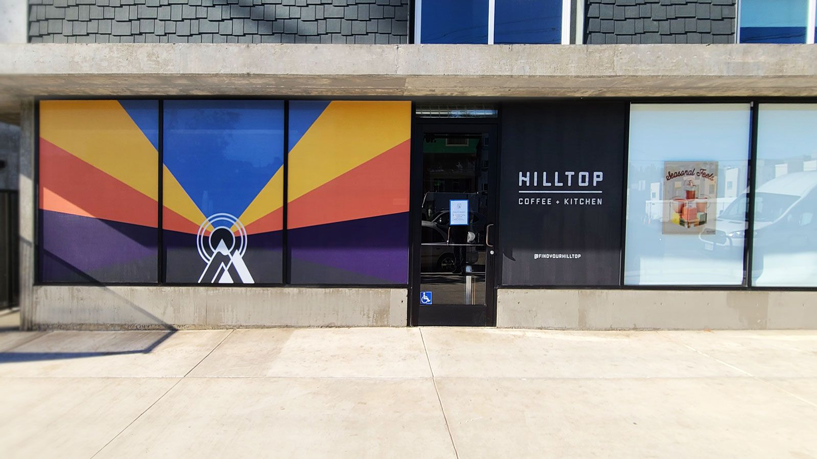 Hilltop window decals