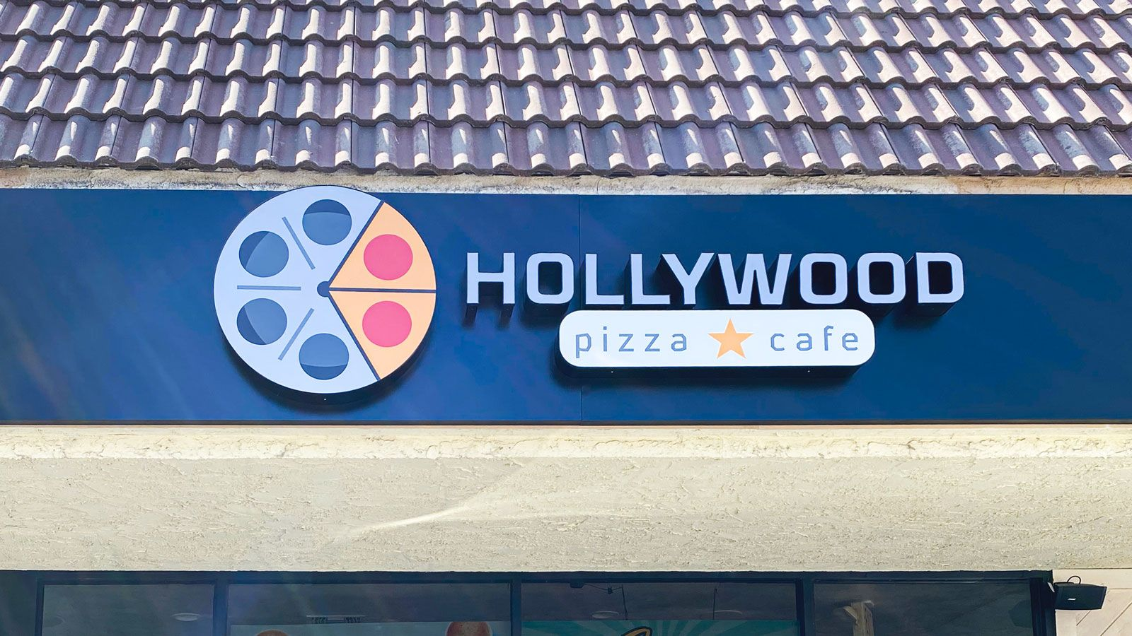 Hollywood cafe illuminated signs